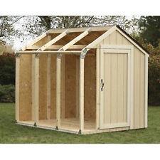 Outdoor Storage Shed DIY Building Kit Garden Utility Garage Tool Backyard Lawn