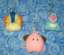 Pokemon Gold and Silver Totodile Cyndaquil Cleffa Coin Purse Lot Nintendo 2000