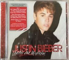 "JUSTIN BIEBER ""UNDER THE MISTLETOE"" CD 2011 island christmas sealed j"