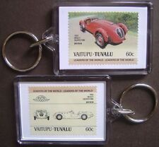 1950 HEALEY SILVERSTONE Car Stamp Keyring (Auto 100 Automobile)