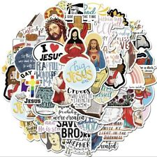 More details for 50 jesus stickers novelty decals skater christian funny stationary laptop