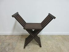 Vintage Campaign X Base Folding Desk Chair Stool End Table Mid Century B