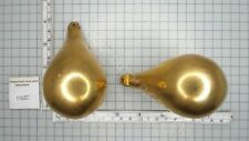SET PEAR SHAPED ZAANDAM OR ZAANSE CLOCK WEIGHTS BETWEEN 1100 AND 1200 GRAMS