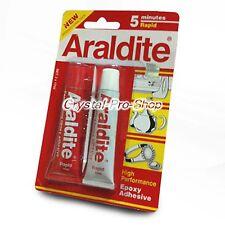 ( FREE 720 Crystal ) Araldite 5 Minutes AB Epoxy Adhesive Applicator Glue 17 ml