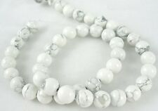 60 Stück / Strang HOWLITH Naturstein Perlen von Bastelconcepte