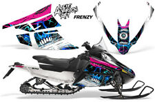 Arctic Cat F Series Sled Wrap Snowmobile Graphics Kit Stickers Decals FRENZY BLU