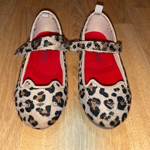 Carter's Brown Leopard Print Kitty Toddler Girls' Shoes - Size 9 - NEW!