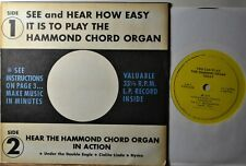 """How-to You Can Play the Hammond Chord Organ NM 45 EP 7"""" Vinyl Extras Ship Free"""