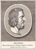Portrait XVIIe Hésiode Hesiodius Ἡσίοδος Hesiod Гесиод 赫西俄德 1685
