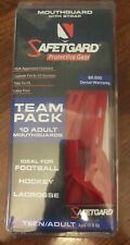 13 Piece Team Pack, SafeTgard Youth Form Fit Mouthguard with Strap Red