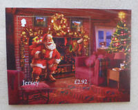 2016 JERSEY CHRISTMAS FATHER CHRISTMAS IN JERSEY STAMP MINI SHEET MNH