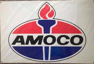 AMOCO EARLY AUSTRALIAN MADE METAL POWDER COATED METAL SIGN 60CM X 40CM