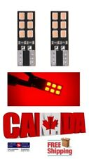 2x 12SMD Red LED T10 194 168 Canbus Error Free Map Dome Plate Light Bulbs