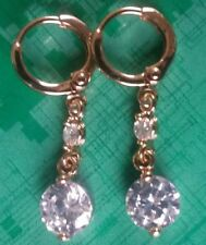 Topaz Huggie Fine Earrings