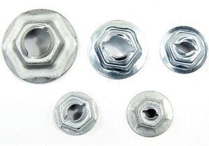 "Chrysler PAL Nuts- Emblem, Trim etc- Fits 3/16"" to 5/16"" Studs- 125 nuts- #046"