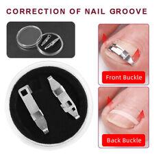 2 Nagelspange Eingewachsene Zehennagel Korrektur Nagel Fixer Pediküre Fuß Pflege