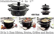 Kitchenware Multiröster Wendegrillplatte Tischgrill Maronenröster Crepers L2