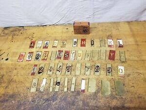 "Vintage Reese's 1"" Gothic Reusable Interlocking Brass Stencil Set letter number"