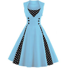 Women 50s Vintage Style Pinup Swing Evening Party Rockabilly Casual Work Dress