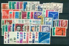 DDR Jahrgang 1961 , gestempelt , Auswahl aus Michel Nr. 807 - 868
