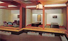 Illinois postcard Chicago Kiyo's Japanese Restaurant tea house 2829 N. Clark St