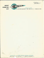 Letterhead-ROCKET POWER-VAC, New York,NY.logo.original vintage= ProductsOverTime