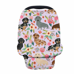 Pet Dog Baby Car Seat Cover Shield for Stroller Infant Canopy Stretchy Multi Use