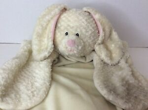 Baby Gund Comfy Cozy Ivory Plush Bunny Rabbit Lovey Security Blanket Mat 36130
