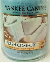 YANKEE FRESH COMFORT 22 oz LARGE Jar Candle New LIMITED Fresh Collection RARE