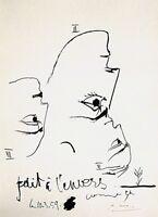 PABLO PICASSO HAND SIGNED SIGNATURE * TOROS Y TOREROS * LITHOGRAPH