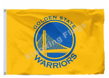 Golden State Warriors Large Logo Flag 3X5 FT NBA Banner Polyester FAST SHIPPING!