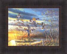 AUTUMN SPLENDOR by Jim Hansel 17x21 Wood Ducks Waterfowl FRAMED PRINT PICTURE
