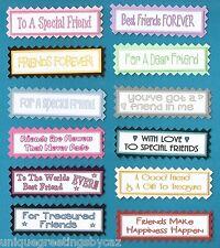 12 Especial Amigos, Mejores Amigos Greeting Card Craft sentimiento Banners Etiquetas