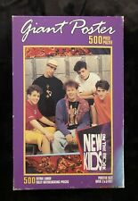 Vintage Mb New Kids On The Block Giant Poster 500 Piece Puzzle - Sealed