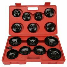 14x Cup Type Oil Filter Wrench Removal Puller Tool Kit Set For Mazda Ford Honda