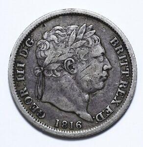 1816, UK, 1 Shilling, George III, Silver, VF, KM# 666, Lot [1056]