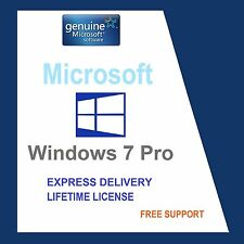 ORIGINAL WINDOWS 7 PRO 32/64-BIT OEM GENUINE LICENSE KEY- SCRAP PC