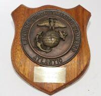 Vintage 1975 US Marines Plaque Award Landing Force Training Command Atlantic