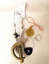 Kid Captain Jack Pirate Sword Weapon Eye Set Fancy Dress Party Accessories UK