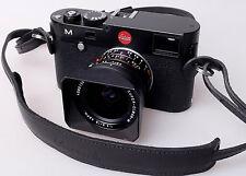 """Oberwerth """"Mosel"""" noble cinturón de cuero negro para lotes de espejo cámaras de sistema Leica M"""