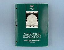Workshop Manual, Vol. ll, '98 Lincoln Navigator/Ford Expedition, FCS-12561-98-2