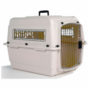 Petmate Vari Kennel IATA Flight Approved Airline Travel with metal vents