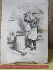Vintage Print,ONE & INSEPARABLE,Thomas Nast,Harpers,Politics,Nov 1878