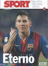 MESSI, Eterno! Revista Récord, FC Barcelona, Sport,  Nov.14