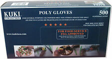 Poly Disposable Food Service Gloves - 500 Gloves Box - Kuki Collection