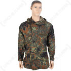 Original German Army Waterproof Flecktarn Jacket - Gortex Coat Surplus Camo Top