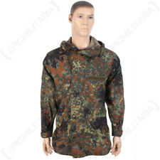 Original German Army Waterproof Flecktarn Jacket - Gortex Coat Surplus Camo Top