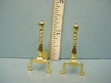 #76 Wood//Metal 1//12th Scale Dollhouse Miniature Andirons Handcrafted