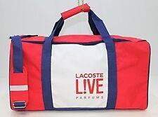 Nouveau LACOSTE LIVE Blanc et Rouge polyvalent, week-end Sac Affaire £ 15.99!