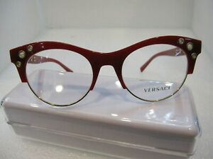 NEW VERSACE MOD.3232 RED 5197 PLASTIC EYEGLASSES FRAME SIZE 52-20-140 ITALY